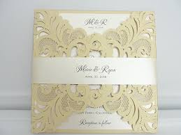 blush and gold wedding invitations blush gold laser cut wedding invitation
