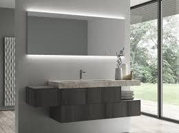 suspended teak bathroom cabinet with mirror sense 07 sense
