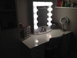 makeup vanity table with lighted mirror ikea creative lighted vanity mirror ikea f70 in stunning image collection
