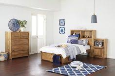 Timber Bedroom Furniture by Zander Queen Timber Bed Bedshed The Apartment Pinterest
