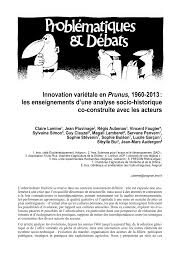 chambre d agriculture ni re innovation variétale en prunus 1960 2013 pdf available
