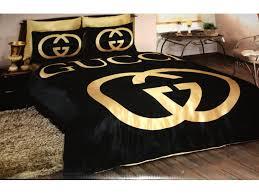Duvet Covers For Single Beds Marvelous Black And Gold Bedroom Design Gucci Bedding Set Satin