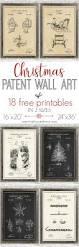 christmas patent wall art and 18 free printables