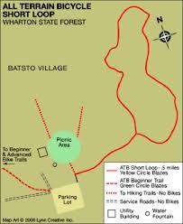 Green Circle Trail Map Batsto Bike Trail Map Maplets
