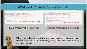 javascript quote html tags gtmtips datalayer declaration vs push simo ahava u0027s blog