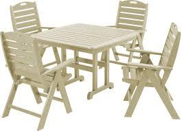 polywood nautical 5 piece patio dining set wayfair