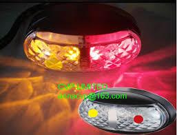 submersible led boat trailer lights led trailer side marker light lamp red amber clearance 10 30v
