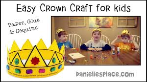 how to make simple paper crowns kid tested craft youtube