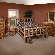 Pine Bed Set Lodge Pole Pine Bedroom Set King Dinettes