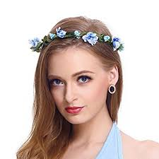 flower headpiece flower headband garland crown festival wedding hair wreath boho