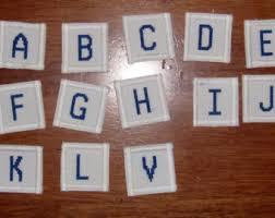 Monogrammed Scrapbook Stitched Monogram
