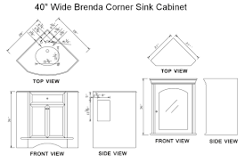 Kitchen Sink Base Cabinet Dimensions Corner Kitchen Sink Dimensions Befon For