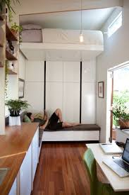 the tiny house company create a home with a floating bed