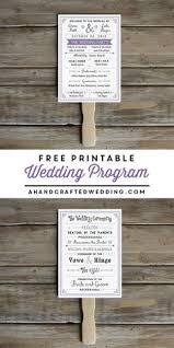 diy wedding ceremony program fans wedding program fan template free diy paddle fan program