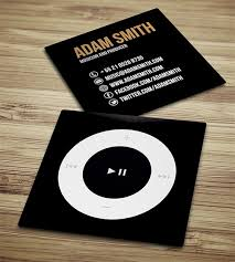 Business Card Music Cool Examples Of Square Sized Business Cards
