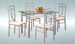 steel dining table set unique design steel table and chairs dining table steel dining