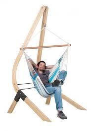 caribeña aqua blue basic hammock chair with fsc certified spruce