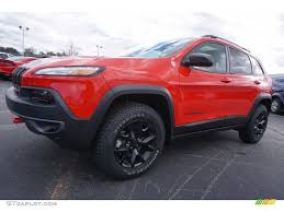 jeep red 2017 2017 firecracker red jeep cherokee trailhawk 4x4 118061108
