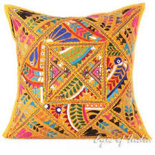 Decorative Pillow with Yellows Pinks & Blues