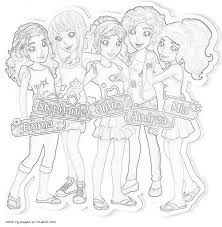 friends lego coloring pages lego friends coloring
