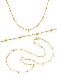 beaded gold chain necklace images Sterling silver necklaces jpg