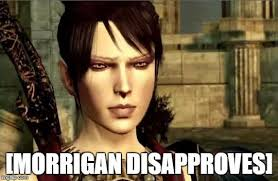 Dragon Age Meme - morrigan disapproves dragon age know your meme