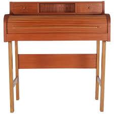 teak roll top desk danish mid century modern teak roll top secretary desk or console