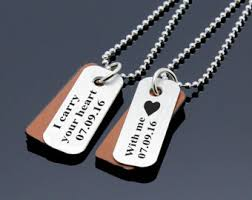 personalized necklaces for couples couples jewelry etsy