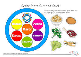 seder plate for kids plate cut and stick worksheet