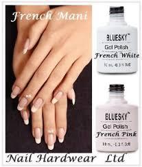 bluesky french manicure cream puff negligee uv led gel nail