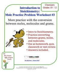 Stoichiometry Practice Worksheet Answer Key Mole Practice Worksheet 3 Moles Molecules And Mass Conversions