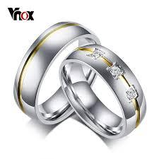 s day rings vnox classic wedding rings for women men stainless steel band