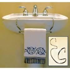 pedestal sink towel bar towel racks for small bathrooms stones finds