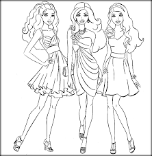barbie friends coloring games color zini
