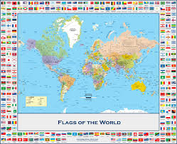 Map Of Cayman Islands Flags Of The World Political Wall Map