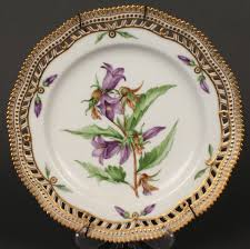 lot 605 royal copenhagen flora danica plate bellflower