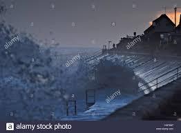 walcott norfolk uk 13th jan 2017 the north sea batters the