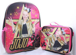 book bags with bows jojo siwa school backpack lunch box combo set book bag