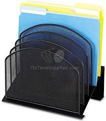 File Desk Organizer Mesh File Organizers By Safco Onyx Ontimesupplies