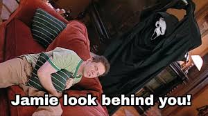 in scream randy watches halloween and gives advice to jamie lee