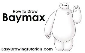 draw baymax big hero 6