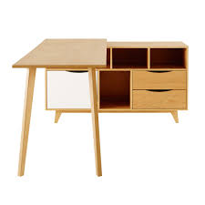 bureau tiroirs bureau d angle 1 porte 2 tiroirs maisons du monde