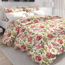 Duvet Covers Tess Off White Tropical Floral Duvet Cover Set By Colorfly