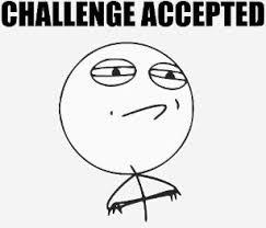Challege Accepted Meme - challenge accepted meme t shirts shirt designs zazzle