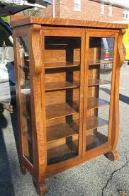 small curio cabinet with glass doors oak curio cabinets foter