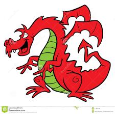 red dragon cartoon illustration royalty free stock image image