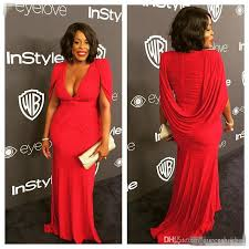 niecy nash plus size red golden globe red carpet evening gowns