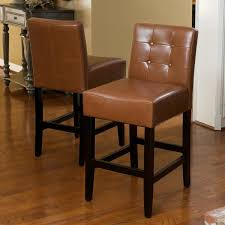 tate 26 inch tufted leather counter stools set of 2 by