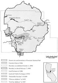 Map Of Yosemite Yosemite U2014 The Embattled Wilderness Table Of Contents