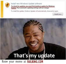 Yo Dawg Know Your Meme - yo dawg i heard you like updates failking com
